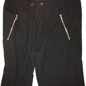 zipper jogger pants